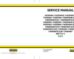 Service Manual for New Holland Engines model F4DE9687