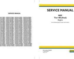 Service Manual for New Holland Engines model F4DFE4132*B001