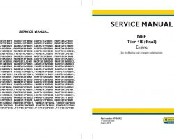 Service Manual for New Holland Engines model F4DFE4131*B001