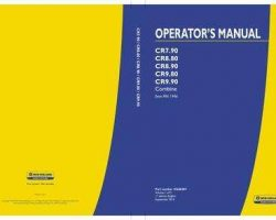 Operator's Manual for New Holland Combine model CR8.80