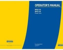 Operator's Manual for New Holland Engines model RPZ145