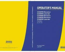 Operator's Manual for New Holland Combine model CX6090