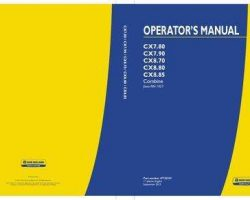 Operator's Manual for New Holland Combine model CX7.90