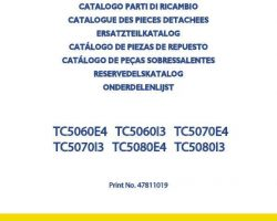 Parts Catalog for New Holland Combine model TC5060