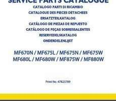 Parts Catalog for New Holland Headers model MF675L