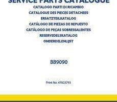 Parts Catalog for New Holland Combine model BB9090
