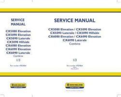 Service Manual for New Holland Combine model CX5090