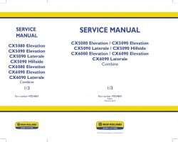 Service Manual for New Holland Combine model CX5080