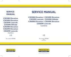 Service Manual for New Holland Combine model CX6090