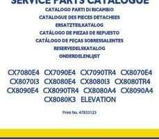 Parts Catalog for New Holland Combine model CX8080