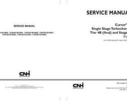 Service Manual for New Holland Engines model F3HFE613B*B001