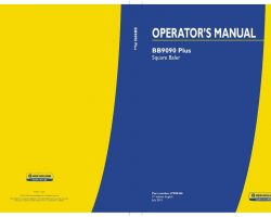 Operator's Manual for New Holland Combine model BB9090