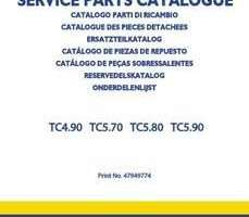 Parts Catalog for New Holland Combine model TC5.70