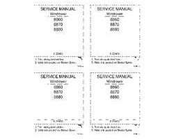 Service Manual for Case IH Windrower model 8880