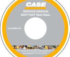 Service Manual on CD for Case IH Skid steers / compact track loaders model 70XT