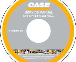 Service Manual on CD for Case IH Skid steers / compact track loaders model 60XT