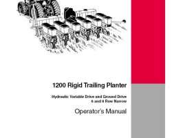 Operator's Manual for Case IH Planter model 1200