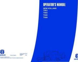 Operator's Manual for New Holland Combine model TX63