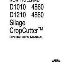 Operator's Manual for New Holland Balers model D1210