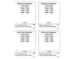 Service Manual for Case IH Tractors model 1294