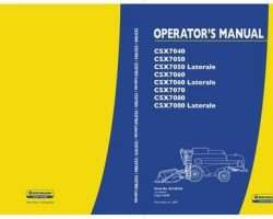 Operator's Manual for New Holland Combine model CSX7080