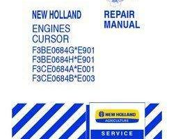 Service Manual for New Holland Engines model F3BE0684H