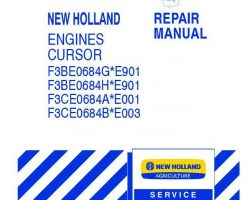 Service Manual for New Holland Engines model F3BE0684G