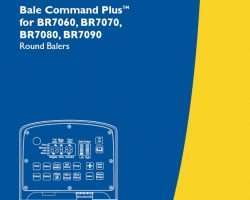 Operator's Manual for New Holland Balers model BR7060
