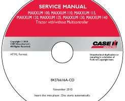 Service Manual on CD for Case IH Tractors model MAXXUM 130