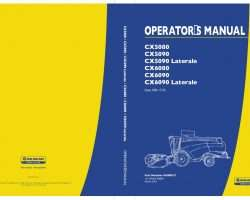 Operator's Manual for New Holland Combine model CX5080