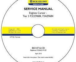 Service Manual on CD for New Holland Engines model F3AE9684