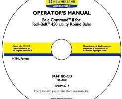 Operator's Manual on CD for New Holland Balers model Roll-Belt 450