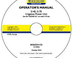 Operator's Manual on CD for New Holland Engines model S170