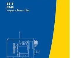 Operator's Manual for New Holland Engines model S240