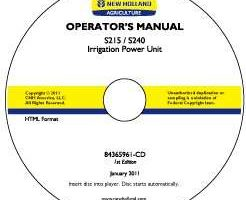 Operator's Manual on CD for New Holland Engines model S240