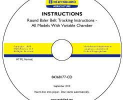Operator's Manual on CD for New Holland Balers model BR750
