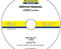 Service Manual on CD for New Holland Combine model CR9090