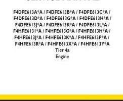 Service Manual for New Holland Engines model F4DFE613A*A