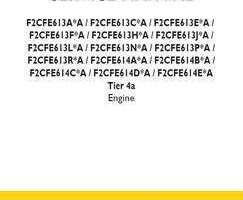 Service Manual for New Holland Engines model F2CFE613C*A