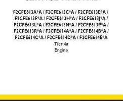 Service Manual for New Holland Engines model F2CFE614D*A
