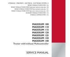 Service Manual for Case IH Tractors model MAXXUM 120