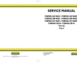 Service Manual for New Holland Engines model F3BFE613A*A001