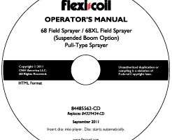 Operator's Manual on CD for Case IH Sprayers model 68