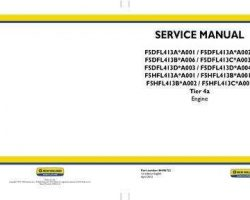 Service Manual for New Holland Engines model F5DFL413B*A006