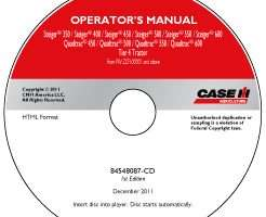 Operator's Manual on CD for Case IH Tractors model 450