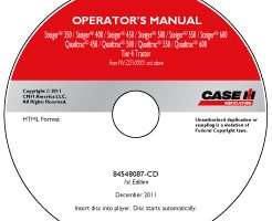 Operator's Manual on CD for Case IH Tractors model 400
