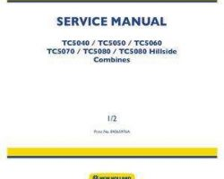 Service Manual for New Holland Combine model TC5060