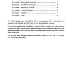 Service Manual for Case IH Balers model 540