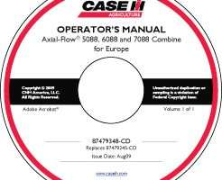 Operator's Manual on CD for Case IH Combine model 7088