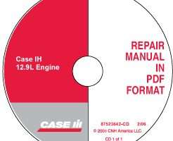 Service Manual on CD for Case IH Tractors model STX430